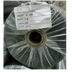 Agrowółknina ściółkujaca PP 50 g/m2 czarna 1,6 x 100 mb. Bez UV Rolka o wadze 8,6 kg.