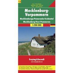 Niemcy część 13 Meklemburgia-Pomorze Przednie mapa 1:200 000 Freytag & Berndt (opr. twarda)