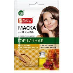 Naturalna maska do włosów gorczycowa olej rycynowy i miód 30ml