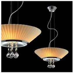 Żyrandol LAMPA wisząca COFFEE MD93608-3A Italux stylowa OPRAWA kryształowa biały