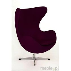 Fotel Jajo w fioletowym kaszmirze