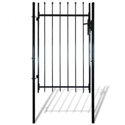 Pojedyncza brama płotu z górą w kształcie harpuna 100 x 170 cm Zapisz się do naszego Newslettera i odbierz voucher 20 PLN na zakupy w VidaXL!