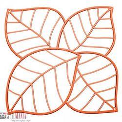 Panel dekoracyjny Koziol Leaf liście pomarańczowy 4 szt. KZ-2043509