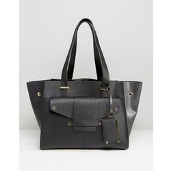 Dune Winged Structured Tote with Stud detail - Black
