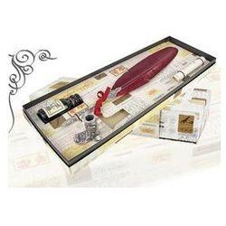 Zestaw do kaligrafii La Kaligrafica ( pióro gęsie ze stalówką + atrament + podstawka ) - złoty