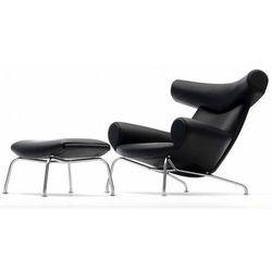 Fotel z podnóżkiem Wół