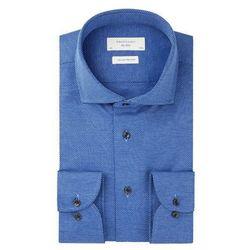 koszula meska szafirowa chabrowa niebieska laviino w  IrpgR