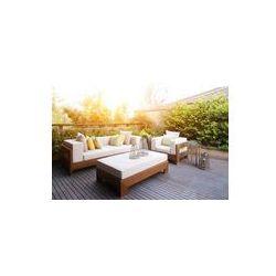 Foto naklejka samoprzylepna 100 x 100 cm - Eleganckie meble i wzornictwo w nowoczesnym patio