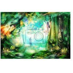 Obraz Magiczny las z wróżek