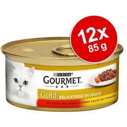 d054070598b914 Gourmet Gold Délicatesse en Sauce, 12 x 85 g - Wołowina i kurczak w sosie