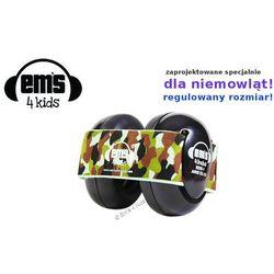 Słuchawki ochronne nauszniki dla dzieci 0+, EM'S - czarne-moro