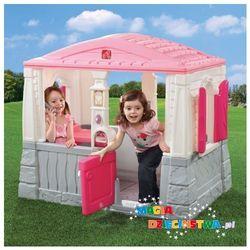 Domek z podłogą RÓŻOWY dla dzieci STEP2 + GRATIS