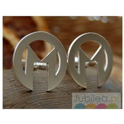 M&M - srebrne spinki dla M...