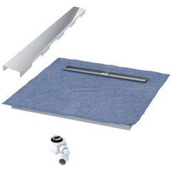 Schedpol podposadzkowa płyta prysznicowa 80x100 cm steel długi bok 10.007OLDBSL