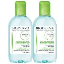 BIODERMA SEBIUM H2O Płyn micelarny 250ml + 250ml