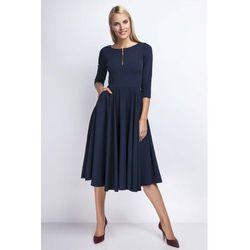 3ae4ede506 suknie sukienki biala prosta dzianinowa sukienka za kolano z krotkim ...
