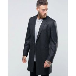 Hart Hollywood by Nick Hart Smart Overcoat In Flannel - Grey