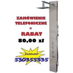 GWARANCJA NAJNIŻSZEJ CENY! | Świecący panel prysznicowy z termostatem wersja polerowana, NEO S-060LED_T | PROMOCJA! 80,00 zł rabatu przy zamówieniu telefonicznym