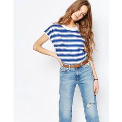 M.i.h. Jeans Striped High Neck T-Shirt - Blue