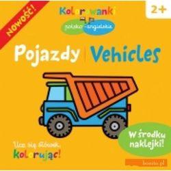 Pojazdy. Kolorowanki polsko- angielskie z naklejkami (opr. miękka)