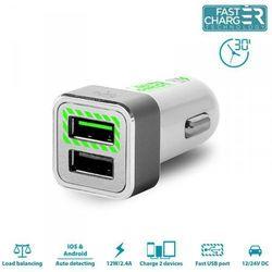 Ładowarka PURO Mini Fast Charger 2xUSB 2.4 A Biały (FCMCH2USB24SWHI) Darmowy odbiór w 19 miastach!