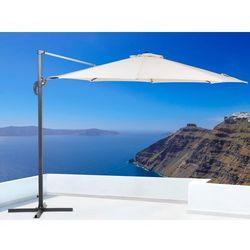 Parasol ogrodowy – beżowy – ø 291 cm – na wysięgniku – metalowy - SAVONA