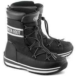 MOON BOOT MB Lem - Czarne Nylonowe Śniegowce Unisex - 14200100001