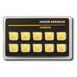 10 x 1g Sztabka złota Multicard
