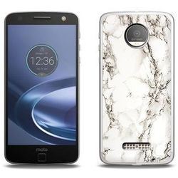 Fantastic Case - Lenovo Moto Z Force - etui na telefon Fantastic Case - biały marmur