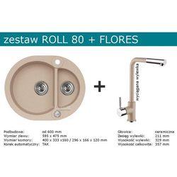 Zestaw ALVEUS ROLL 80 + FLORES (kolor BEŻOWY)