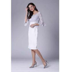 cb752c4aa8 suknie sukienki olowkowa sukienka z koronka fuksja ciemnorozowa ...