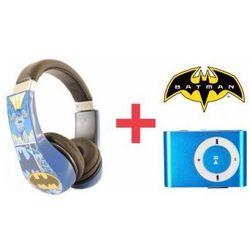 Słuchawki Dla Dzieci Batman + Odtwarzacz MP3 Niebieski