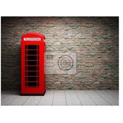 Plakat Klasyczny czerwony budka telefoniczna
