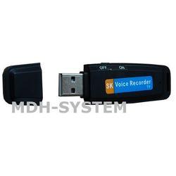 Mikro rejestrator dźwięku, Dyktafon, Pendrive, slot kart micro SD