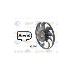 BEHR HELLA SERVICE Wentylator, kondensator klimatyzacji - 8EW009144-601