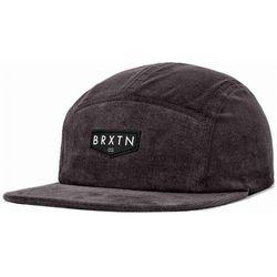 czapka z daszkiem BRIXTON - Haft 5 Panel Charcoal (0303)