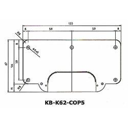 Podkładka wzmacniające do zawiasów Kubica Koblenz K6200 i K6900