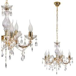 Żyrandol LAMPA wisząca MARIA TERESA 35-94646 Candellux metalowa OPRAWA świecznikowa kryształki złoty