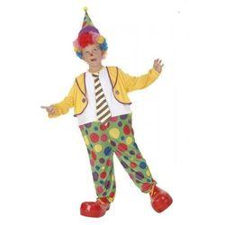Klaun z krawatem 4-6 lat, kostium/ przebranie dla dzieci, odgrywanie ról