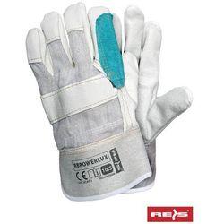 Rękawice robocze wzmacniane skórą licową RBPOWERLUX rozmiar 10