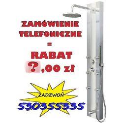 GWARANCJA NAJNIŻSZEJ CENY !   Panel prysznicowy z hydromasażem Araga S-011 białe szkło , CORSAN   Transport gratis! NOWA PROMOCJA - RABAT 40,00 przy zamówieniu telefonicznym !