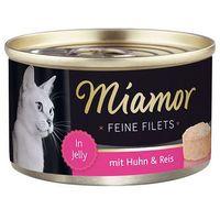 MIAMOR Feine Filets - filety mięsne smak: kura z ryżem 100g