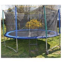 EURO 427 cm (14ft) - Trampolina ogrodowa z siatką zabezpieczającą i drabinką