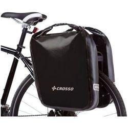 CO1009.60.01 Sakwy rowerowe Crosso DRY BIG 60l Czarne zestaw na tył
