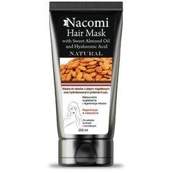 Nacomi Maska do włosów z proteinami ryżu i olejem migdałowym 200ml