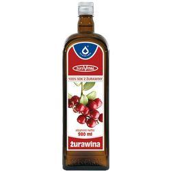 Żurawina 100% sok z owoców żurawin płyn - 980 ml
