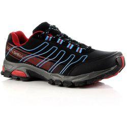 HASBY czarno-niebieskie buty trekkingowe damskie wodoodporne - czarny