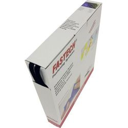 Taśma rzepowa Do przyklejenia element z pętelkami i haczykami (DxS) 25 m x 10 mm Czarny Fastech 25 m
