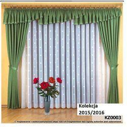 Komplet zasłon dekoracyjnych z lambrekinem KZ003