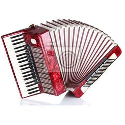 Naklejka Retro akordeon na białym